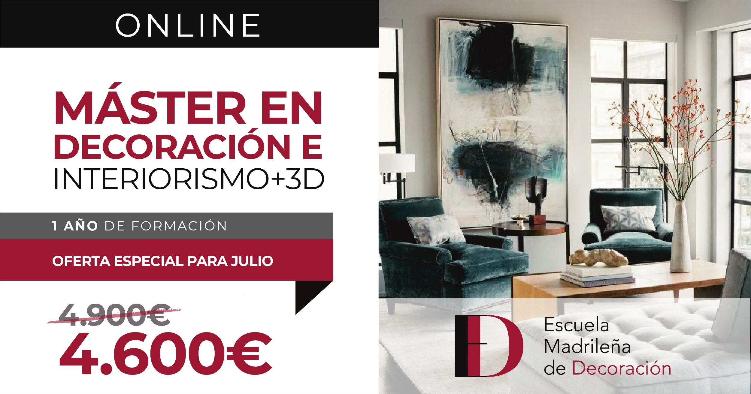máster online diseño interiores