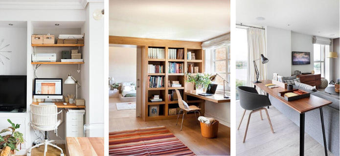 piso de soltero: decora tu espacio de teletrabajo
