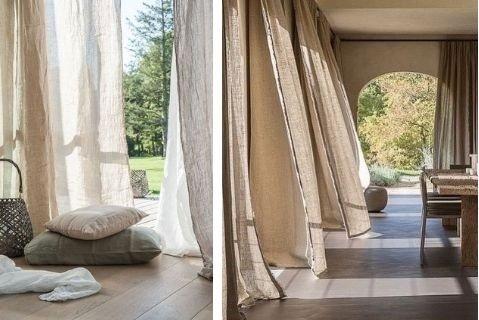 Decoración sostenible lino