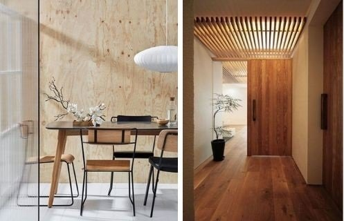Estilo japandi madera