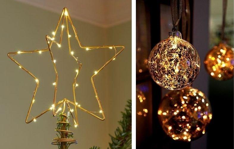 navidad sostenible luces led
