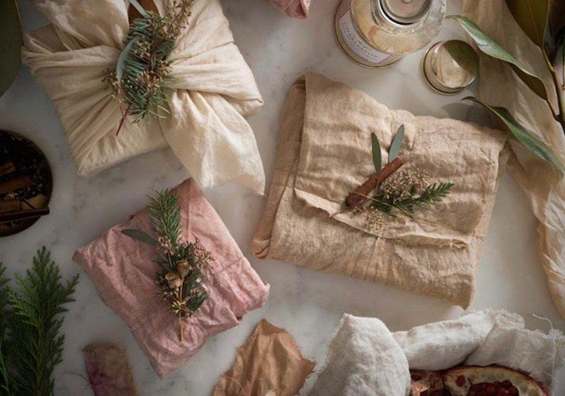 navidad sostenible furoshiki