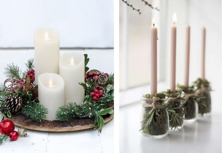 navidad sostenible velas