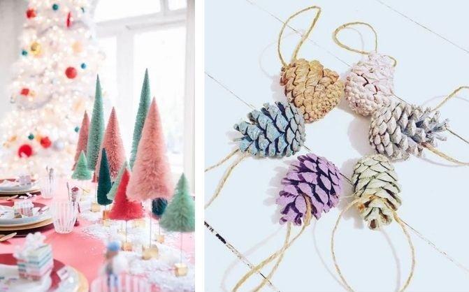 Tendencias en decoración de navidad pastel