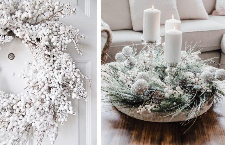 Tendencias en decoración de navidad blanco