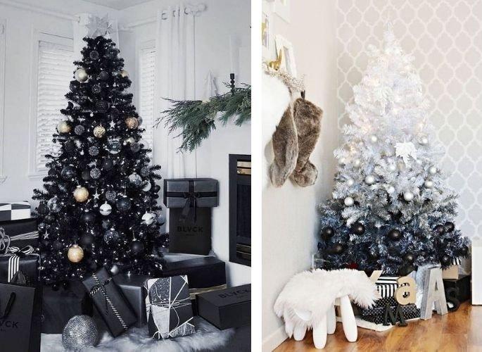 Tendencias en decoración de navidad blanco y negro