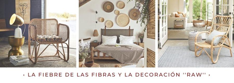 La fiebre de las fibras naturales y la decoracion raw escuela madrileña de decoracion raw