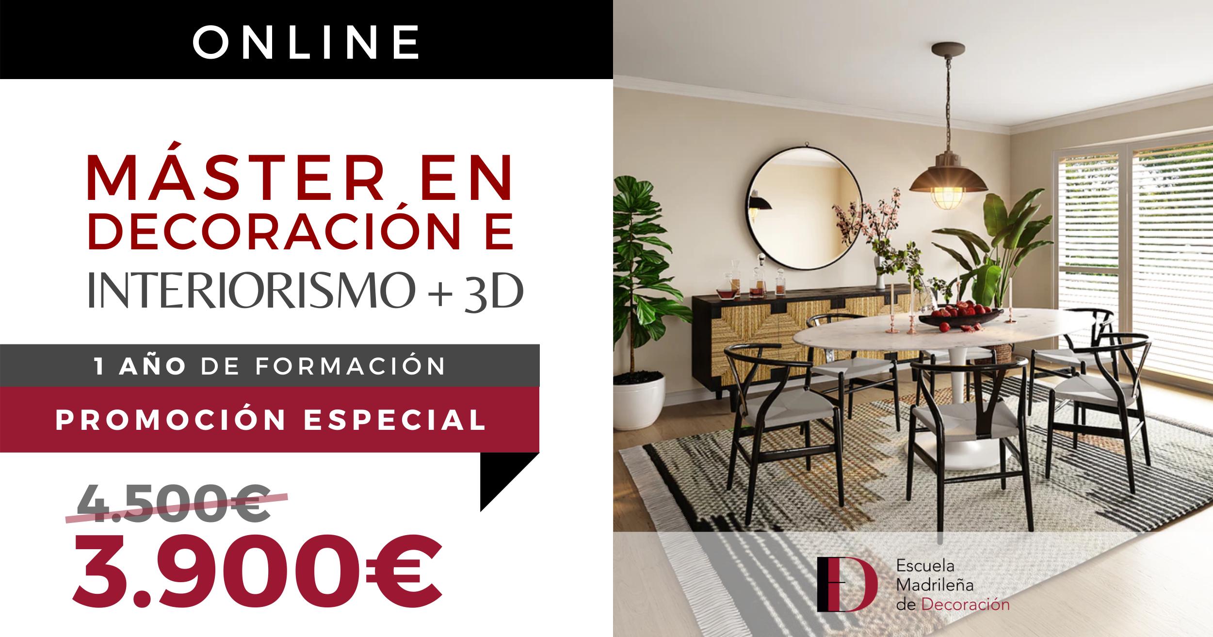 Máster Online Escuela Madrileña de Decoración